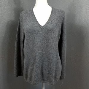 Charter Club 100% Cashmere V Neck Sweater XL